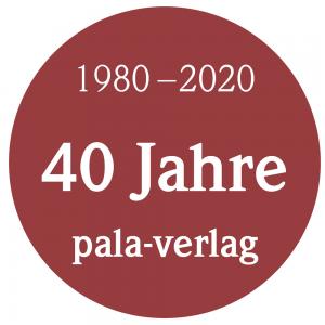 Button 40 Jahre pala-verlag